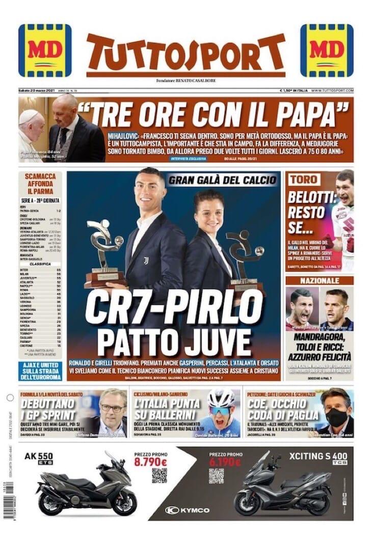 Влахович+Влашич – это Миланич. Заголовки Gazzetta, TuttoSport и Corriere за 20 марта