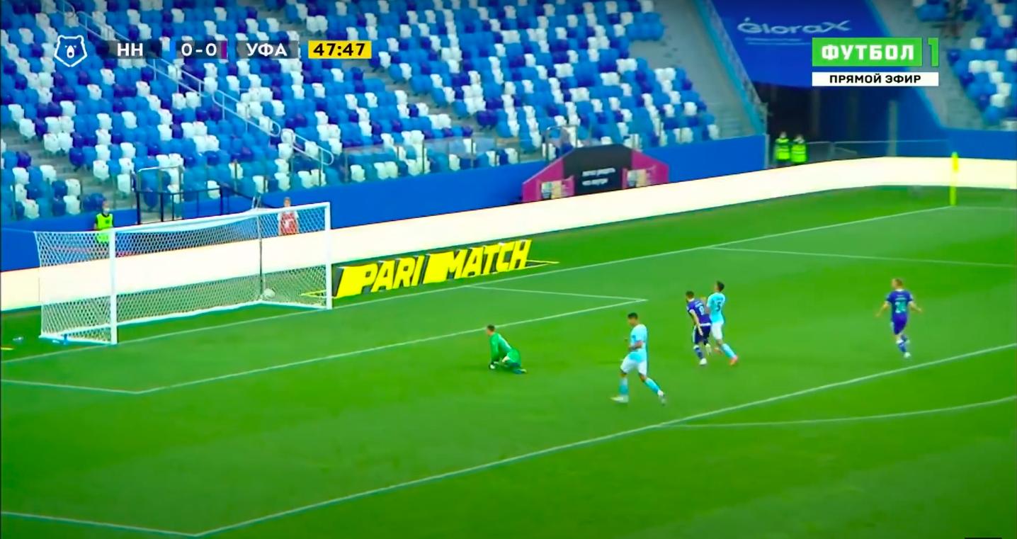 «Нижний» впервые проиграл в РПЛ – «Уфе». Пропустили комичный гол после кувырка от защитника