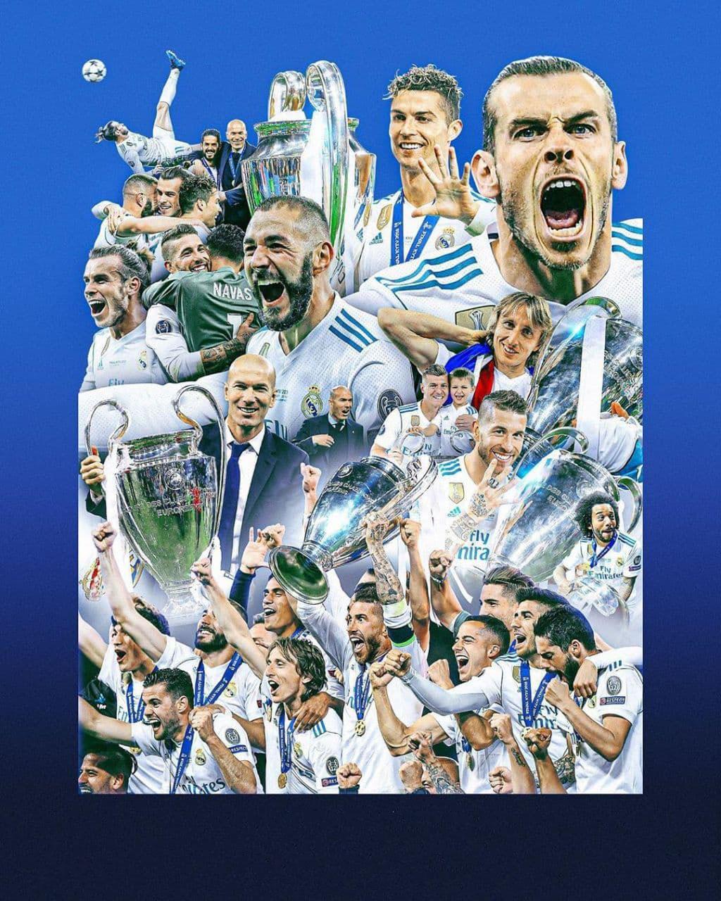 Шикарные арты, посвященные победам «Мадрида» в Лиге чемпионов