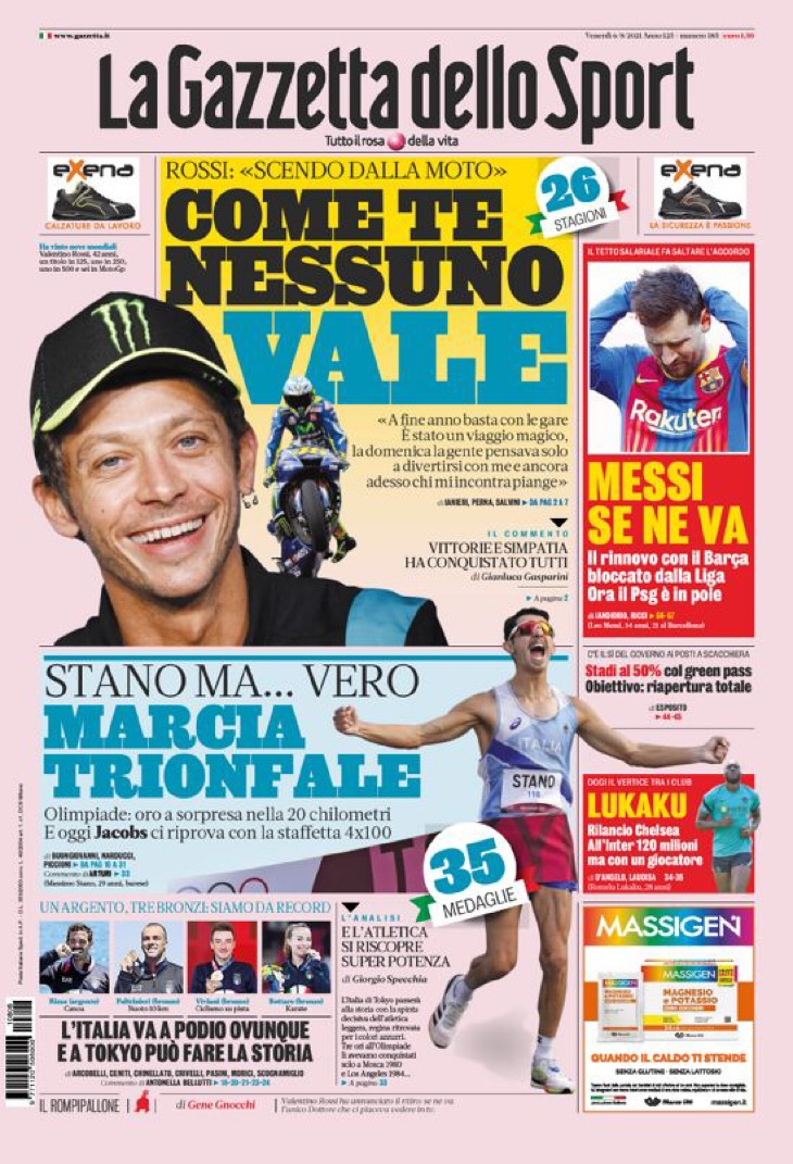 Лукаку уходит, Месси разрывает. Заголовки Gazzetta, TuttoSport и Corriere за 6 августа