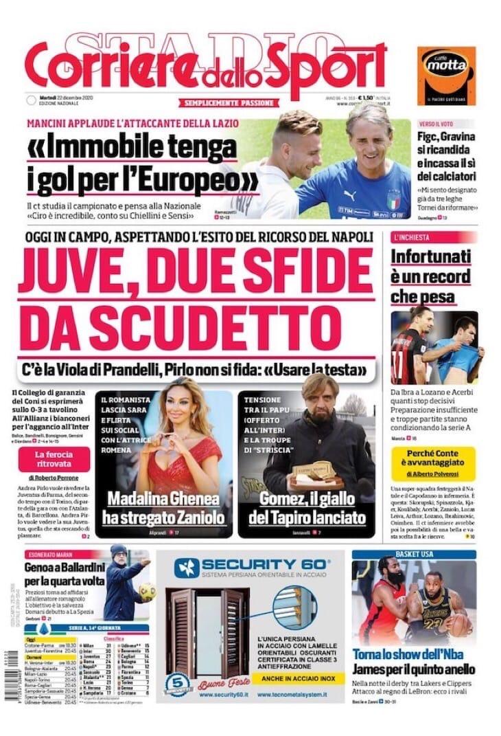 «Юве», 2 матча за один день! Заголовки Gazzetta, TuttoSport и Corriere за 22 декабря