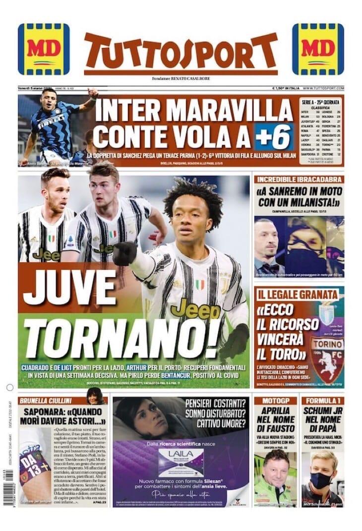 Покеда, «Интер»! Заголовки Gazzetta, TuttoSport и Corriere за 5 марта