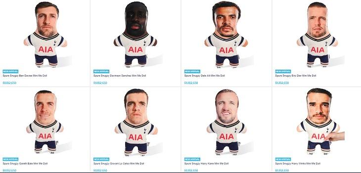 «Тоттенхэм» выпустил странные мягкие игрушки с лицами игроков. Такие же есть у «Сити»и «Арсенала»
