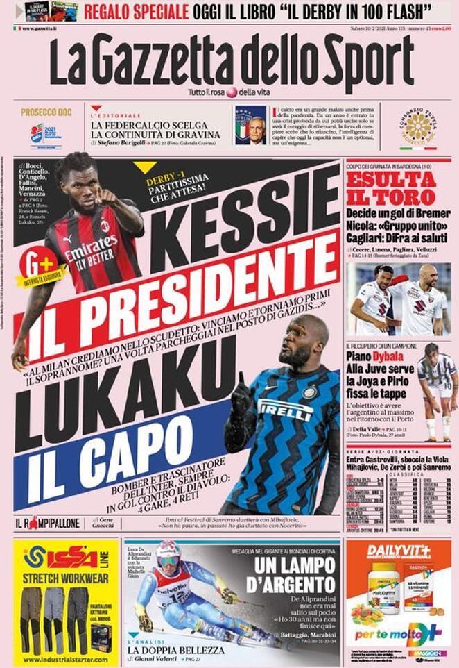 Италия в предвкушении миланского дерби. Обзор футбольной прессы