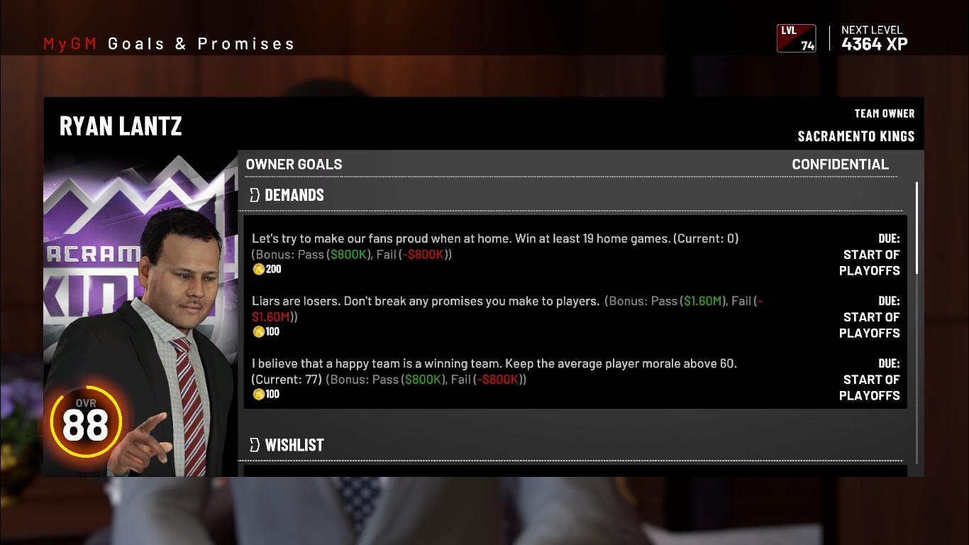 My NBA 2K19: Настройка режима, цели сезона и первые увольнения