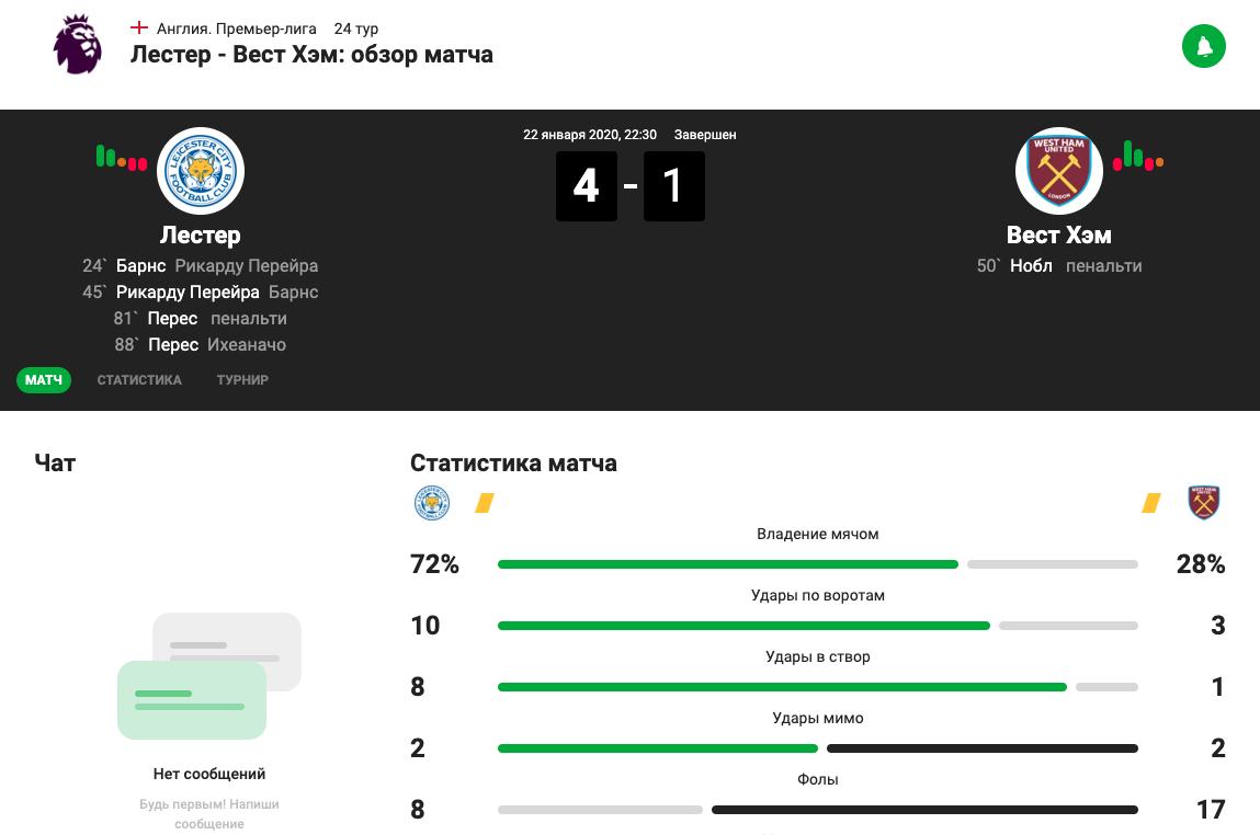 Немецкий сайт футбольной статистики