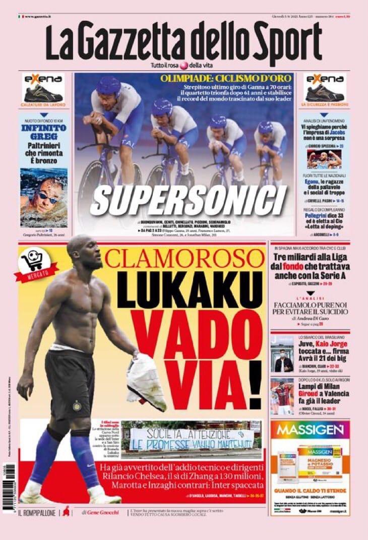 Желание «Челси». Заголовки Gazzetta, TuttoSport и Corriere за 5 августа