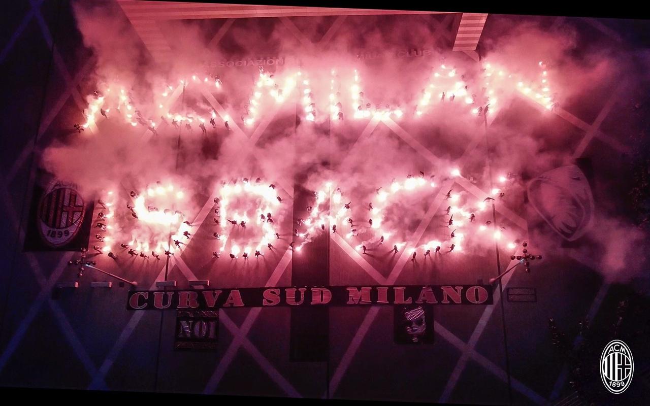 Ультрас «Милана» зажгли улицу: спели символичную песню, поблагодарили руководство, выложили фаерами – «Милан» вернулся»