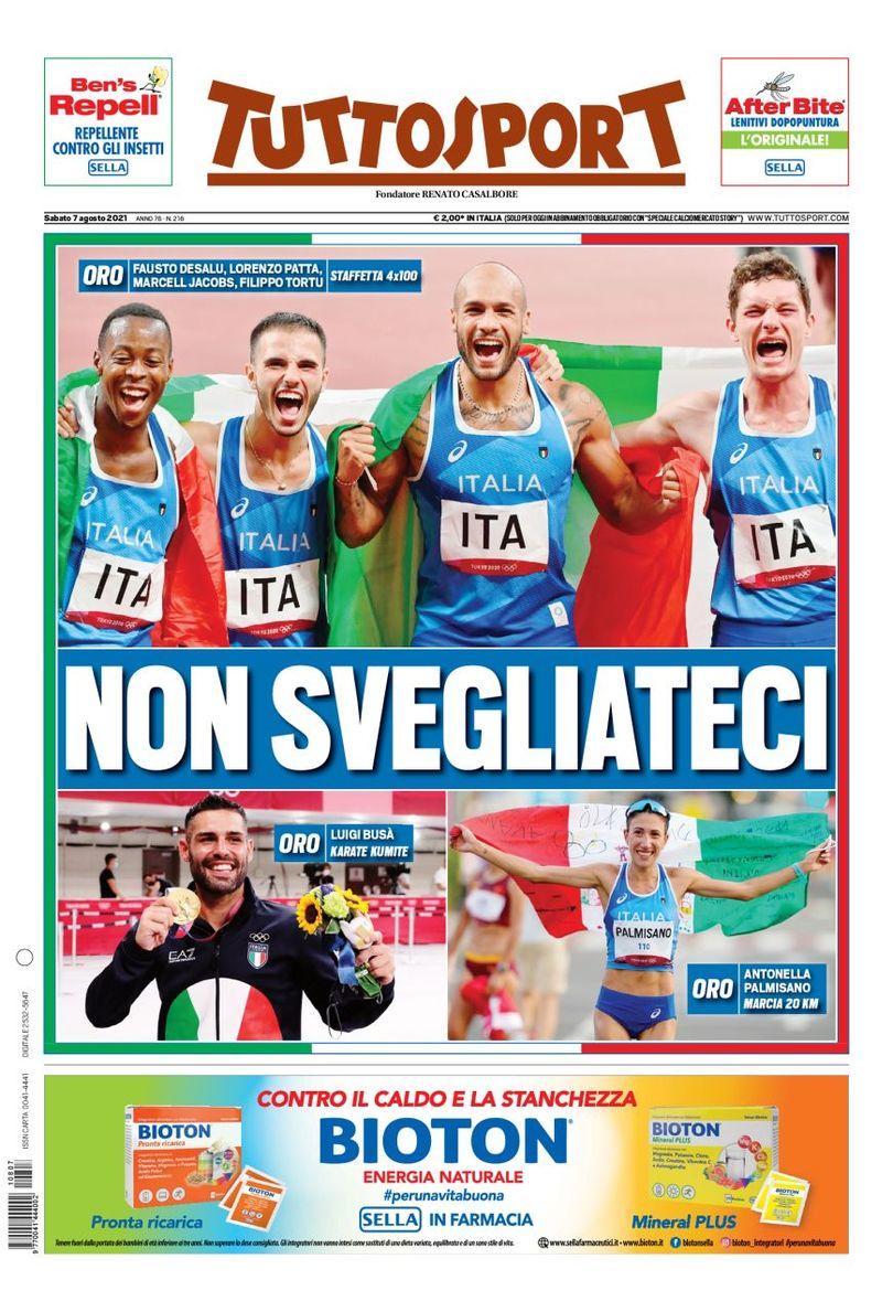 Не просыпайтесь. Заголовки Gazzetta, TuttoSport и Corriere за 7 августа