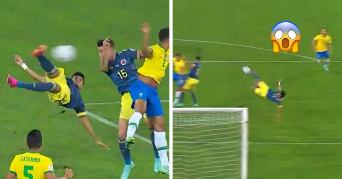 Красота с Кубка Америки: колумбиец забил Бразилии мощной бисиклетой