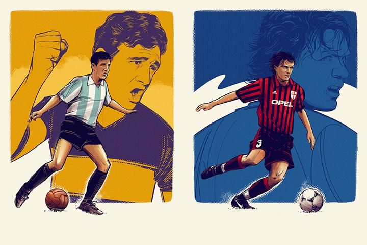 100 гениев футбола. Классный арт-проект о футболе