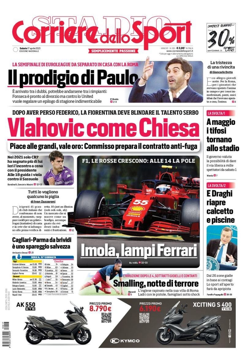 «CR7 останется!». Заголовки Gazzetta, TuttoSport и Corriere за 17 апреля