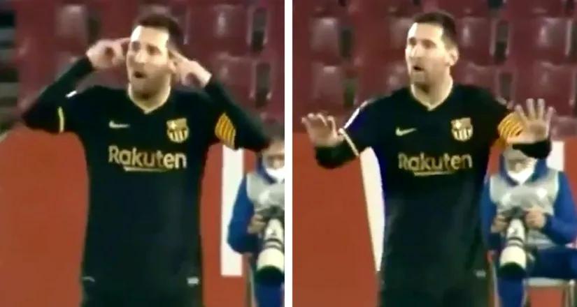 Истинный лидер: Месси просил игроков не терять голову и успокоиться во время матча с «Гранадой»