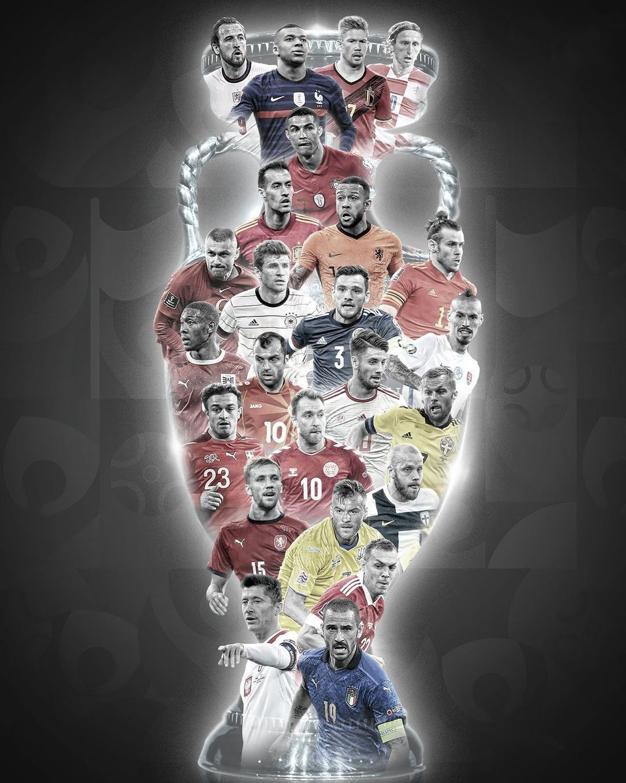 Евро-2020, Джорджиньо Вейналдум, Кевин де Брюйне, Букайо Сака, Андреас Кристенсен, Йозуа Киммих, Никола Влашич, Серджи Бускетс, Карим Бензема, Федерико Кьеза