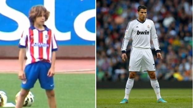 С «Атлетико» тренируется Джулиано Симеоне – третий сын Диего. Он был болбоем и мелькал на ютубе со штрафным в стиле Роналду