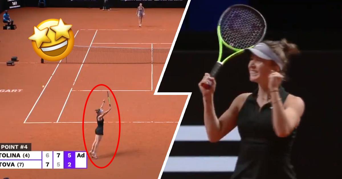 Яркие эмоции Свитолиной после выхода в полуфинал турнира в Штутгарте
