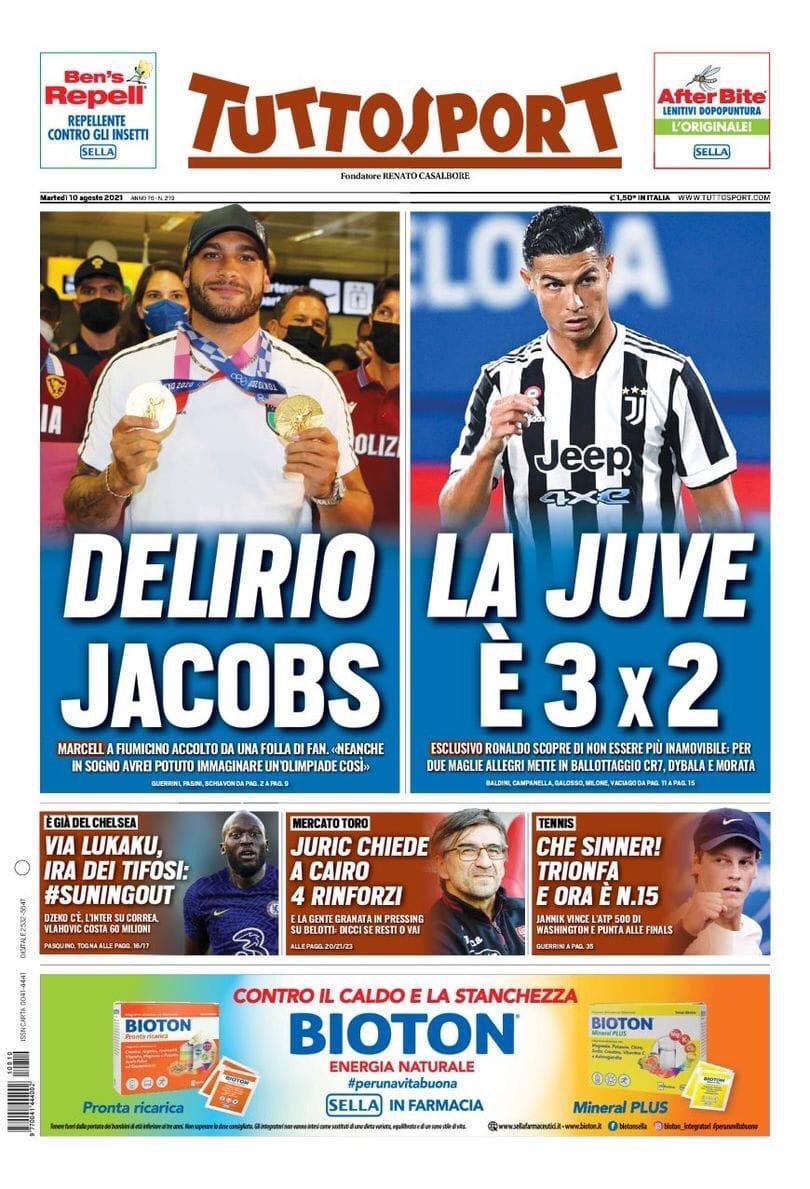«Юве», это наш год». Заголовки Gazzetta, TuttoSport и Corriere за 10 августа