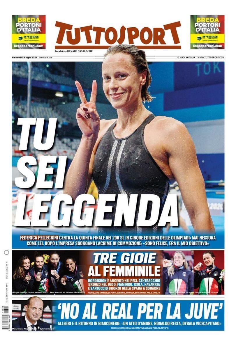 «Роналду, хочу большего». Заголовки Gazzetta, TuttoSport и Corriere за 28 июля