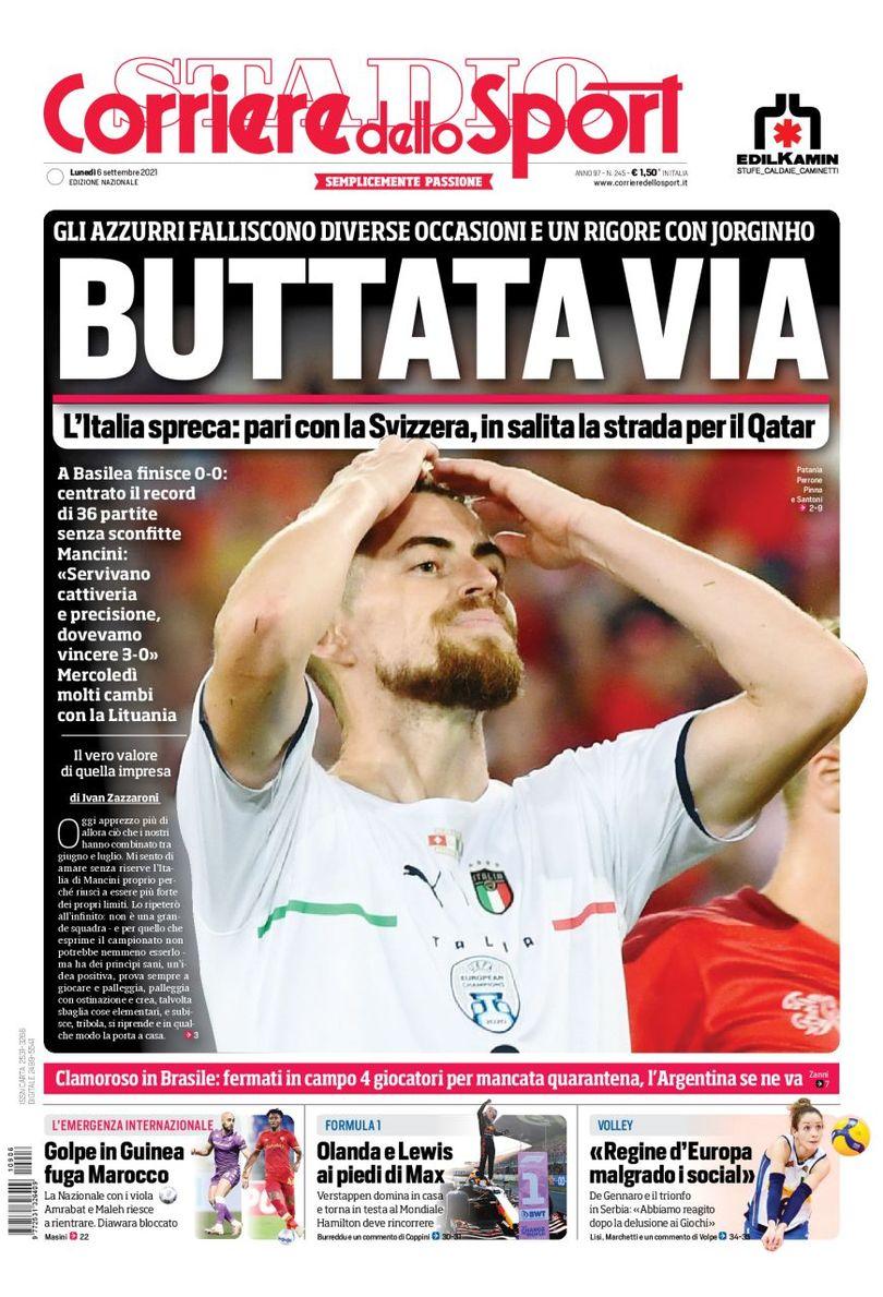 Рекордные растраты. Заголовки Gazzetta, TuttoSport и Corriere за 6 сентября