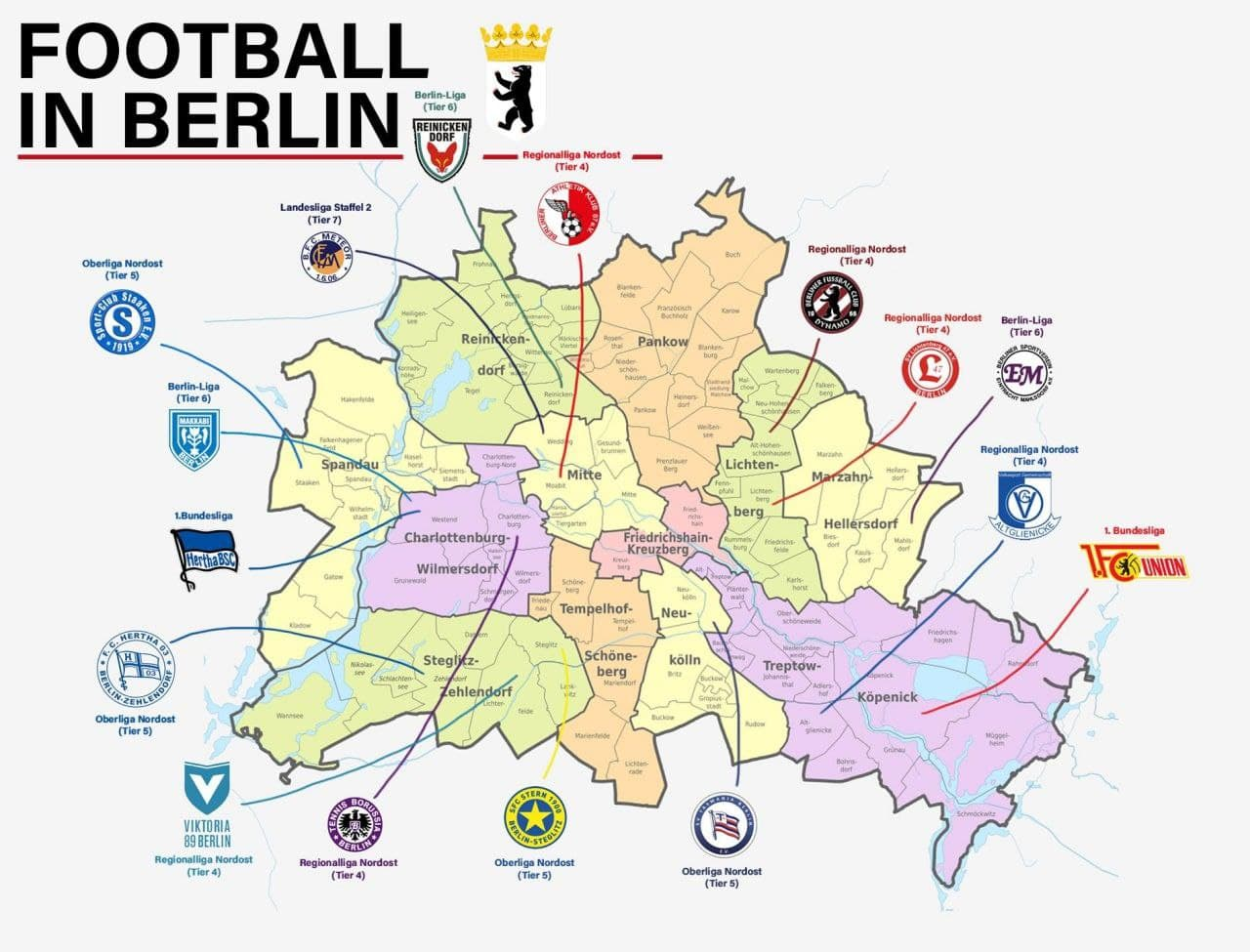 Футбольная карта Берлина