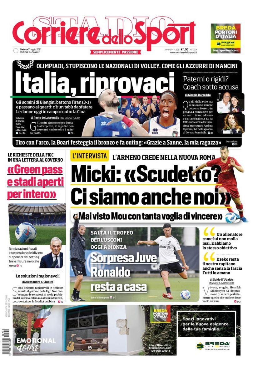 «Пьянич хочет в «Юве». Заголовки Gazzetta, TuttoSport и Corriere за 31 июля