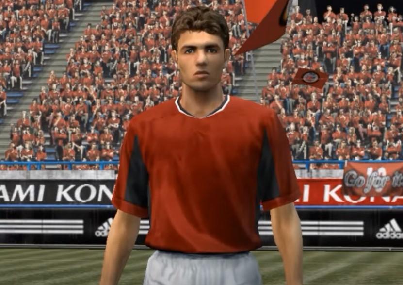 Каким был Криштиану, когда впервые появился в FIFA, PES и FM. Игра головой – 34/100, потенциал ниже, чем у Милевского, странное лицо