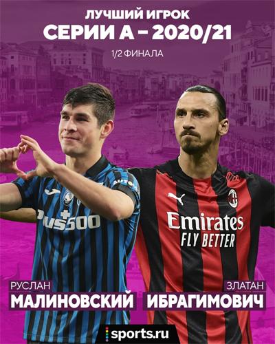 Лукаку набрал 72%, а Малиновский выбил самого Златана. Подводим итоги очередного этапа голосования на звание лучшего игрока сезона в Серии А