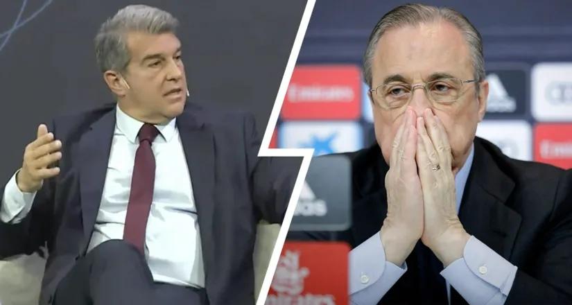 Жоан Лапорта: «Мы заставили Флорентино Переса уйти в отставку, когда он увидел, что «Реал Мадрид» стал хуже «Барсы»