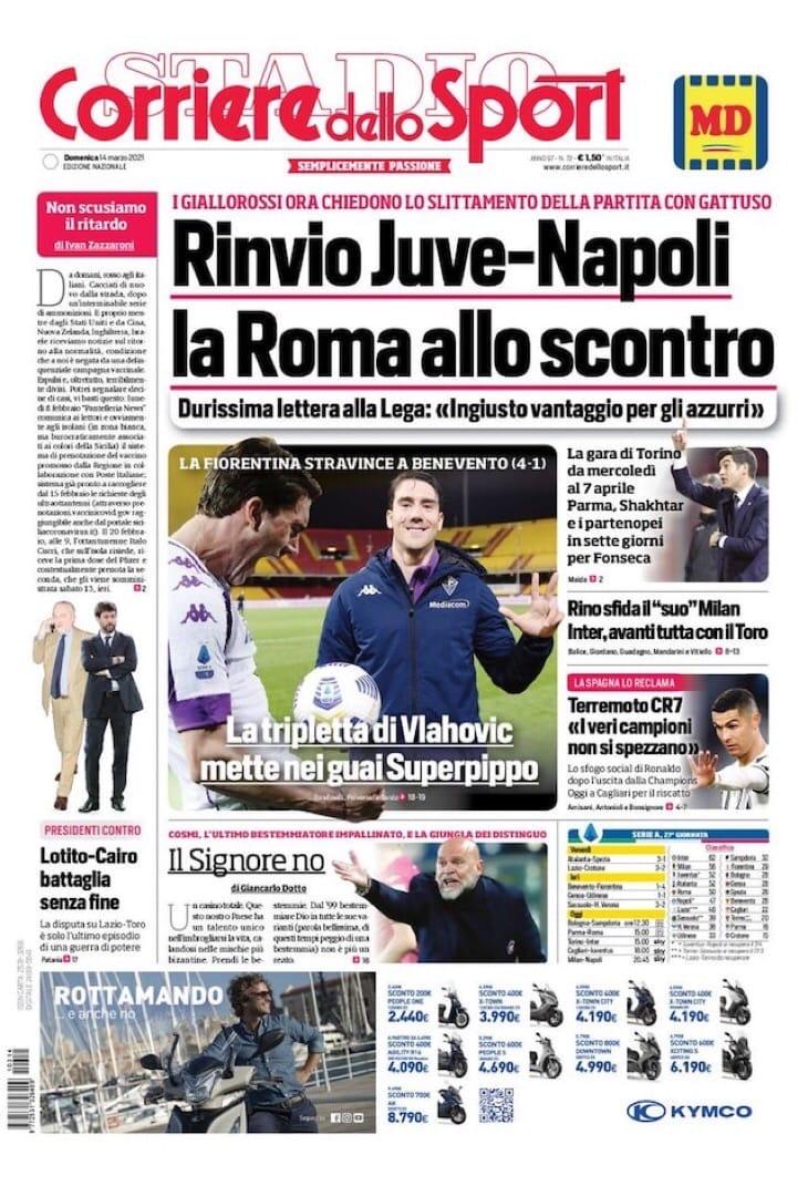 Печать Чжэна. Заголовки Gazzetta, TuttoSport и Corriere за 14 марта