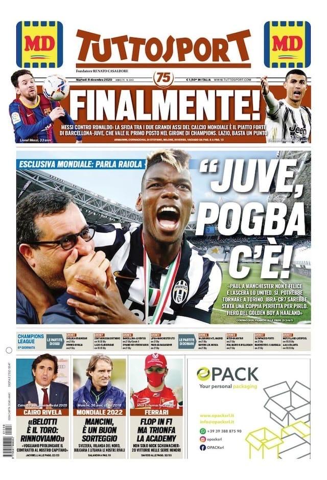 Кто самый сильный? Заголовки Gazzetta, TuttoSport и Corriere за 8 декабря