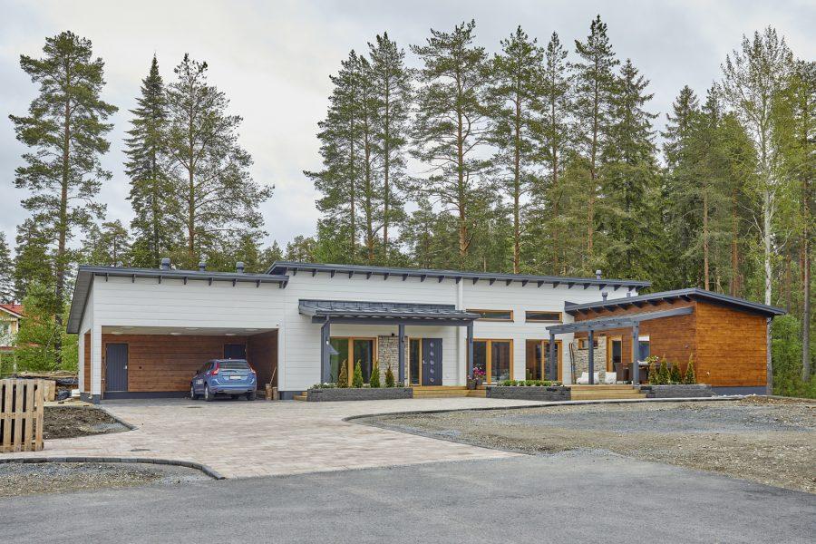 Дом Кайсы Мякяряйнен: 152 квадрата в Северной Карелии, особая система отопления и, конечно, сауна