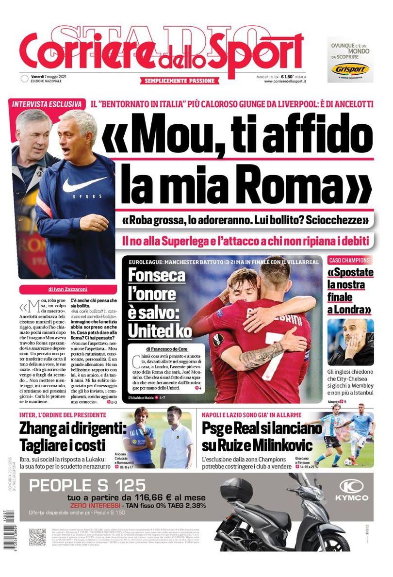 Зизу-«Юве», роковой атракцион. Заголовки Gazzetta, TuttoSport и Corriere за 7 мая