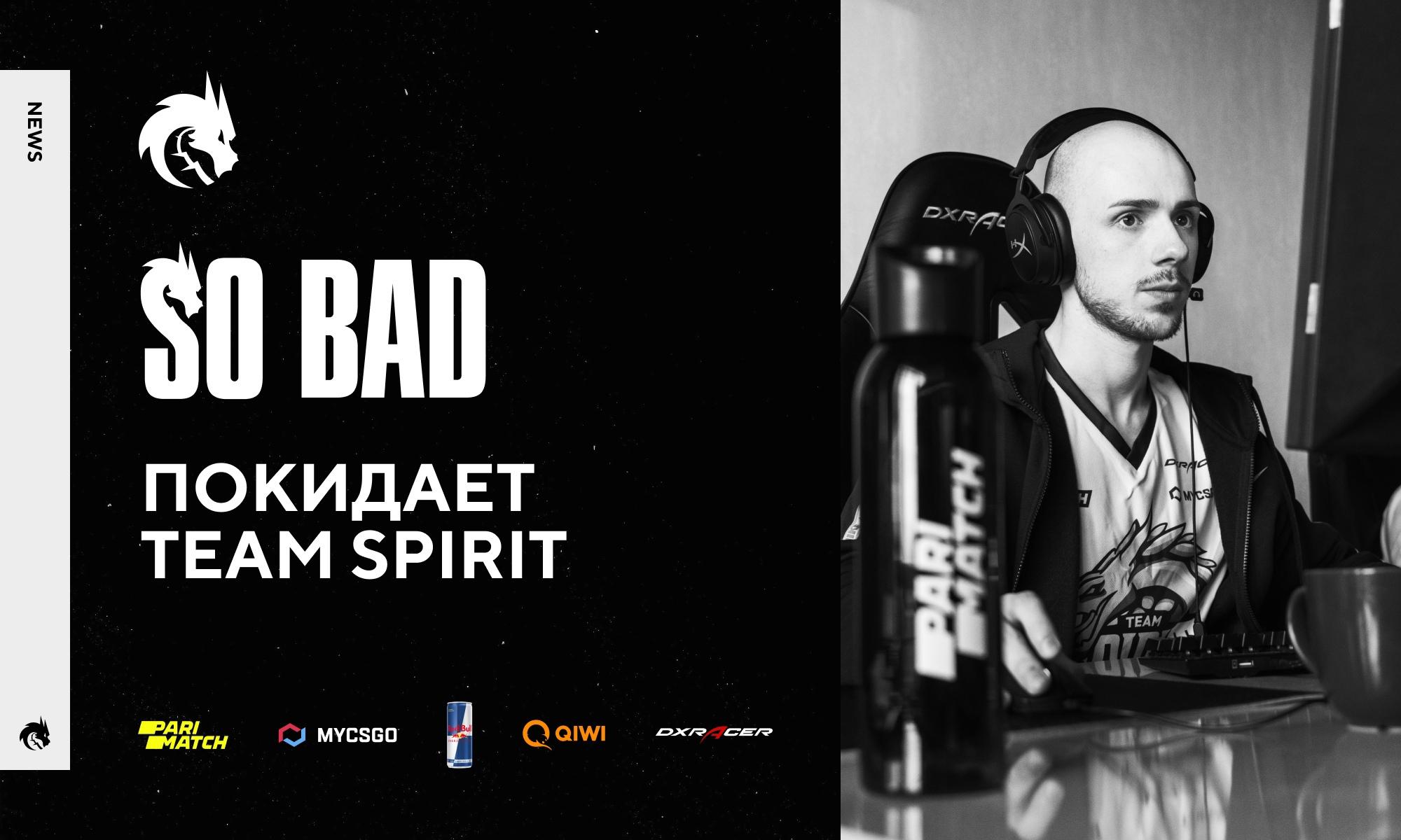 Team Spirit, Dota 2, Виталий «so bad» Ошманкевич