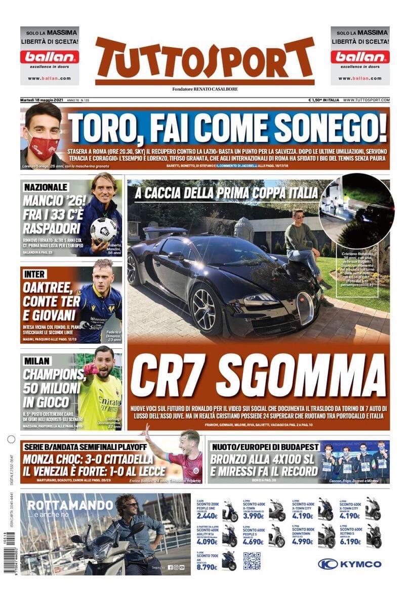 Зизу, ты нравишься! Заголовки Gazzetta, TuttoSport и Corriere за 18 мая