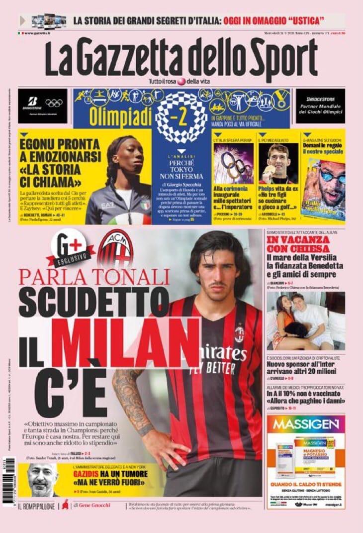 Сил, Иван! Заголовки Gazzetta, TuttoSport и Corriere за 21 июля