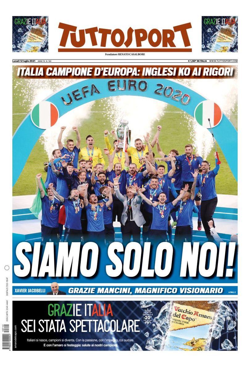 «Это больно… Но мы так вами гордимся». Британские медиа грустят, но не унывают, а в Италии – счастье