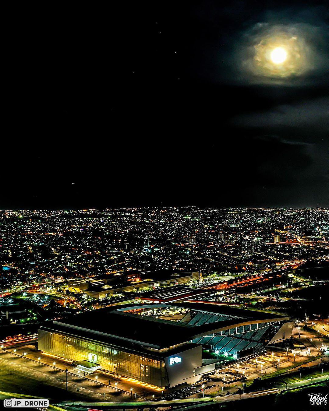 Необычный дизайн бразильского стадиона «Нео Кимика Арена», на котором играет «Коринтианс» (фото с дронов)
