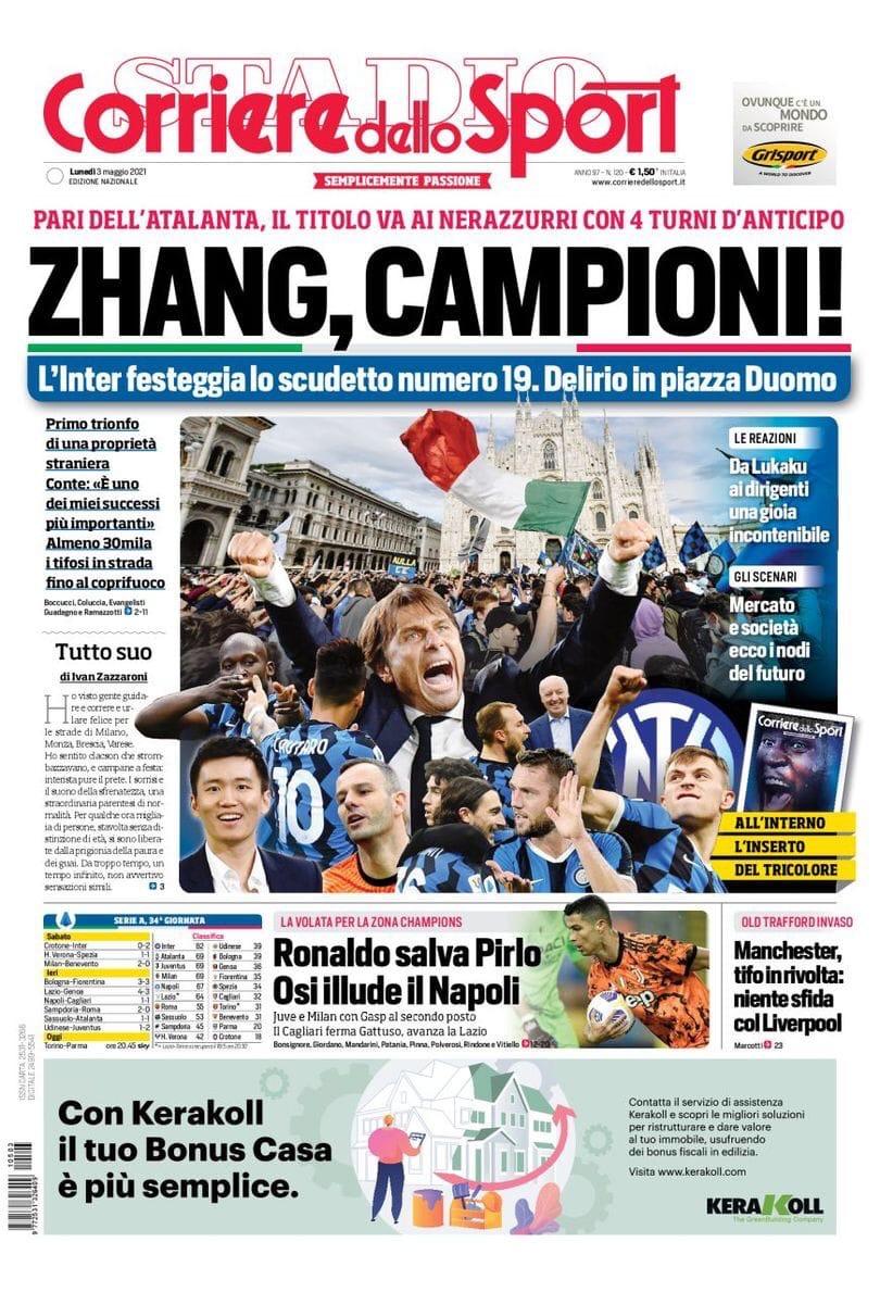 Самые сильные! Заголовки Gazzetta, TuttoSport и Corriere за 3 мая