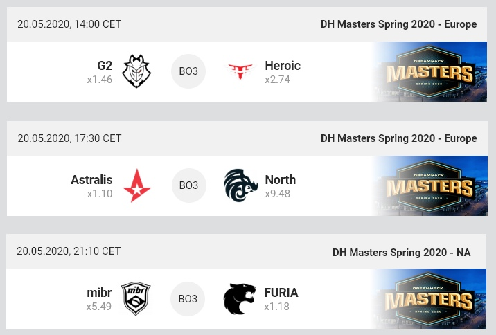 MIBR, DreamHack, Counter-Strike: Global Offensive, G2 Esports, North, Heroic, DreamHack Masters Spring 2021, Furia, Astralis