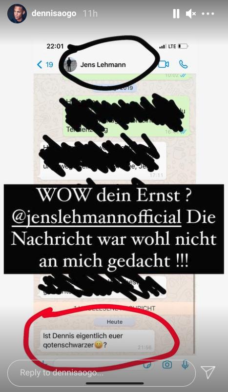 Леманн назвал экс-игрока сборной Германии «черным, нанятым по квоте». Случайно отправил ему такое сообщение – и теперь уволен из «Герты»
