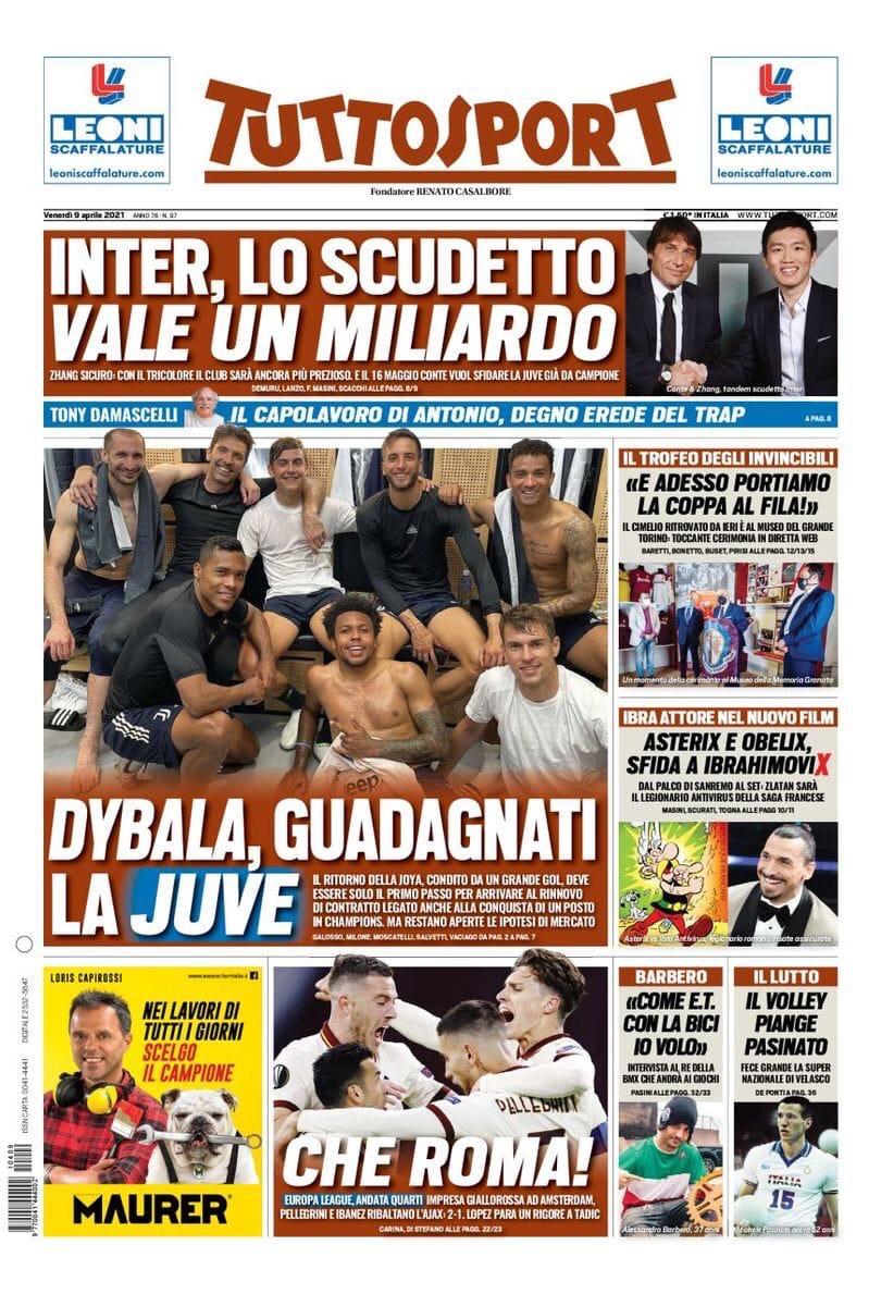 Реакция «Ромы». Заголовки Gazzetta, TuttoSport и Corriere за 9 апреля