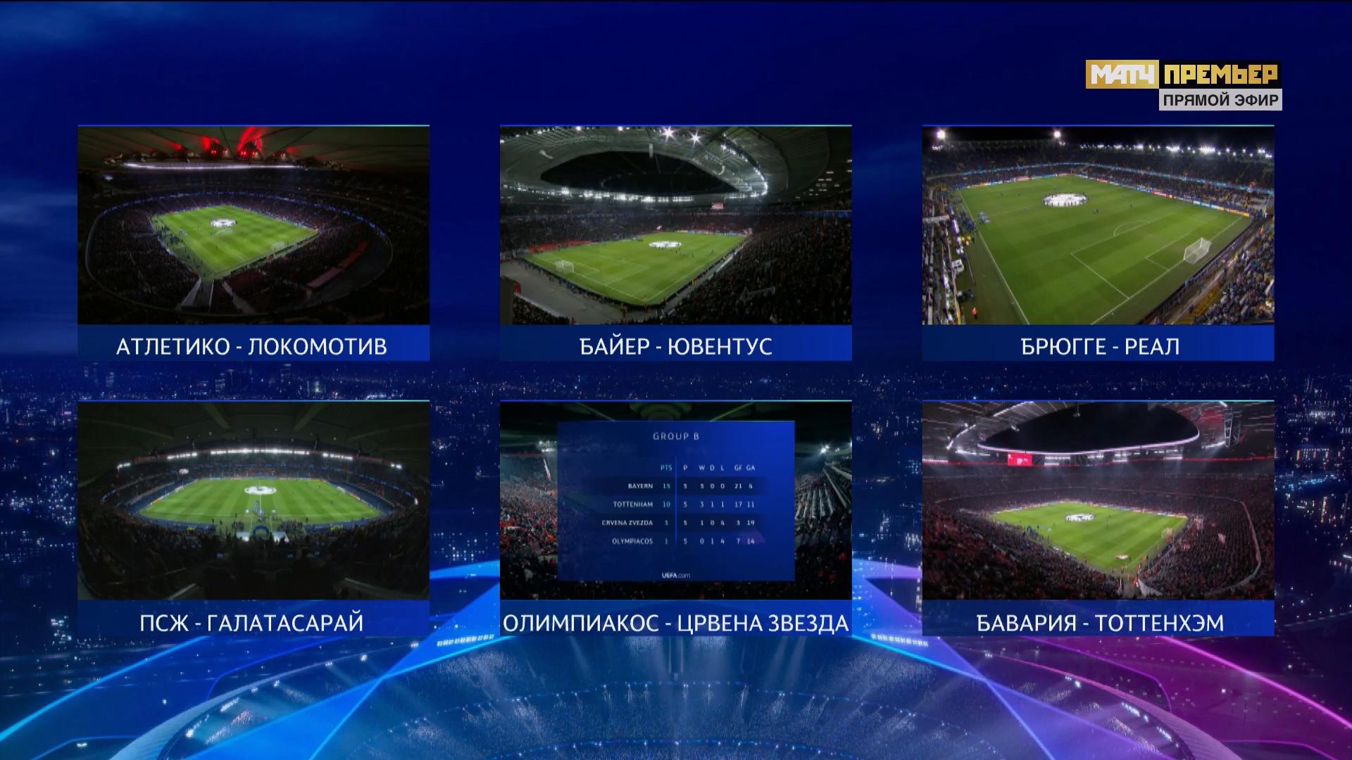 телевидение, Лига чемпионов УЕФА