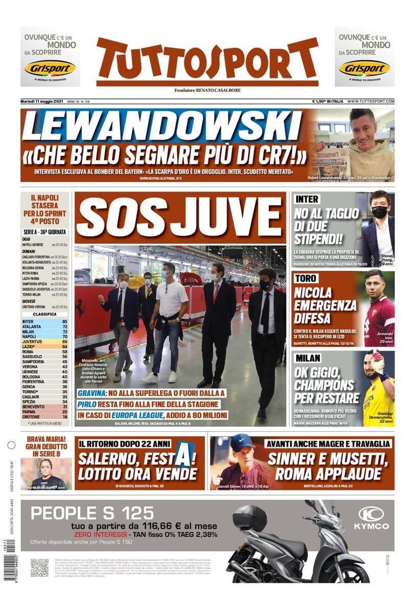 «Милан», премия – это Джиджо. Заголовки Gazzetta, TuttoSport и Corriere за 11 мая