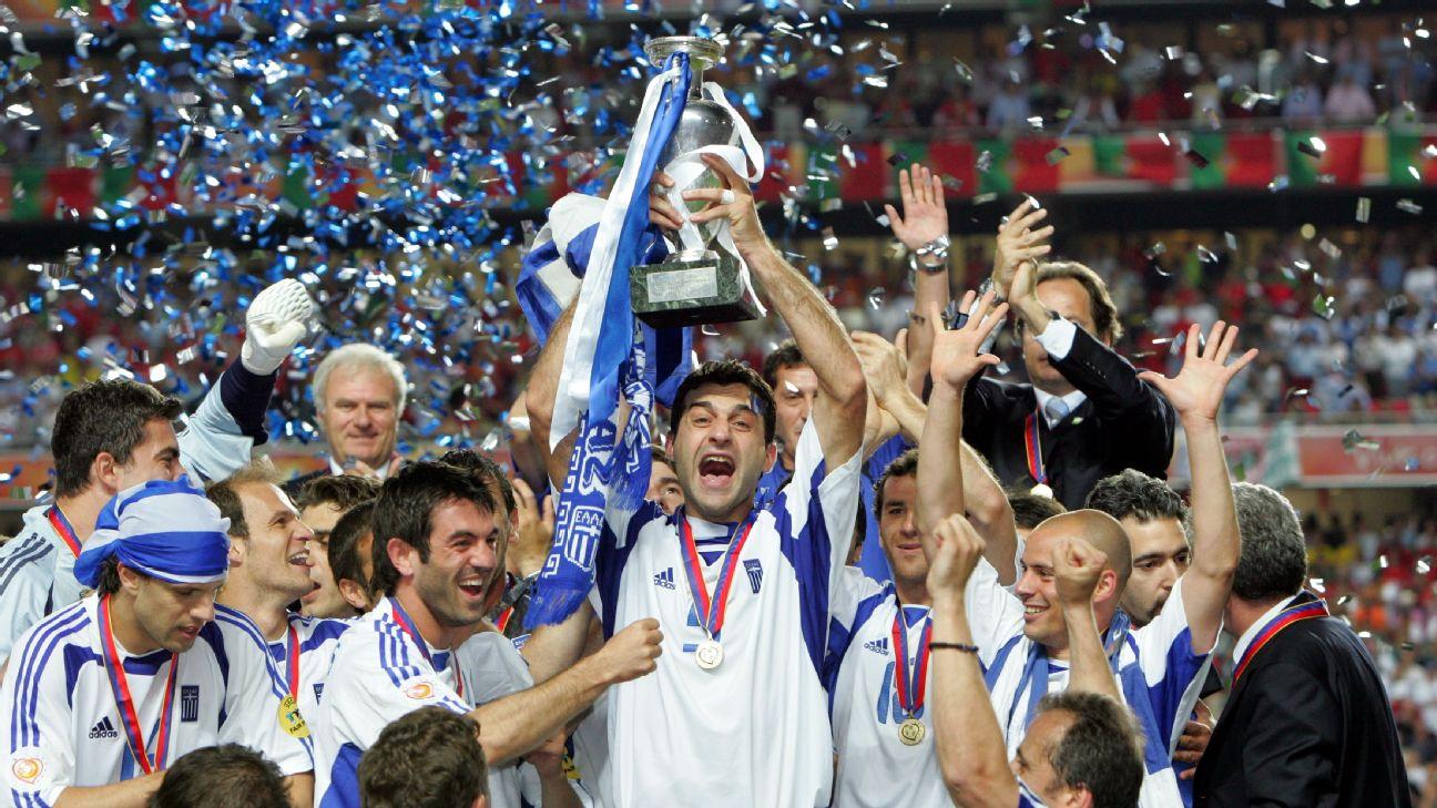 чемпионат Европы, сборная Греции по футболу