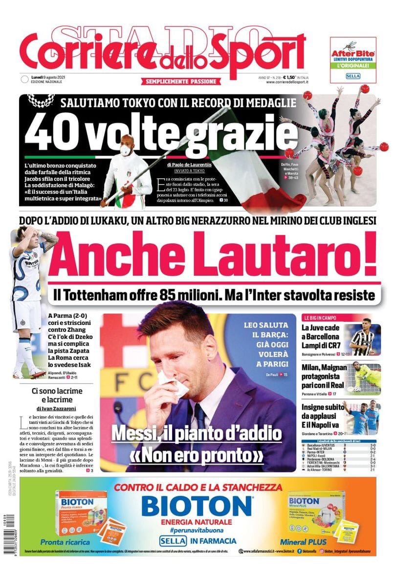 Ещё и Лаутаро! Заголовки Gazzetta, TuttoSport и Corriere за 9 августа