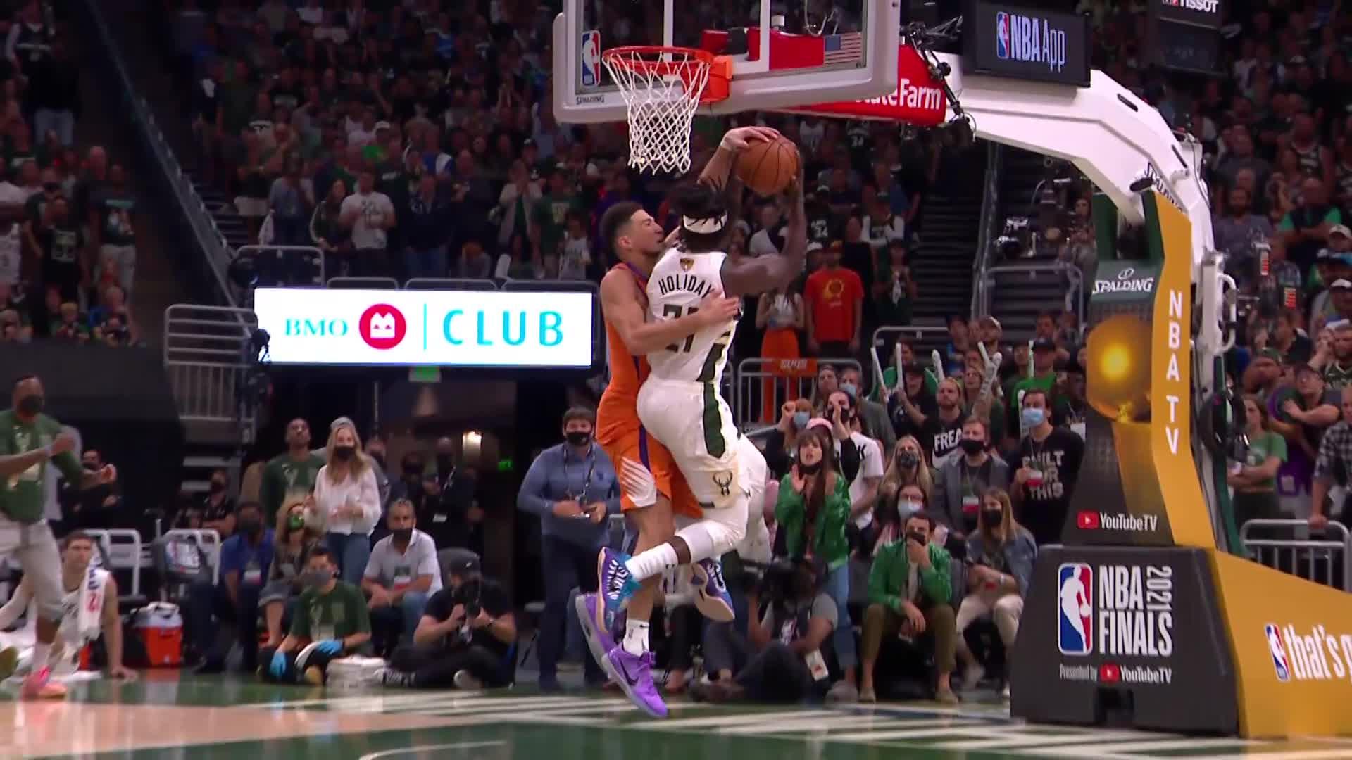 ☝️ Ошеломительный блок-шот Янниса спасает «Милуоки» и этот финал НБА