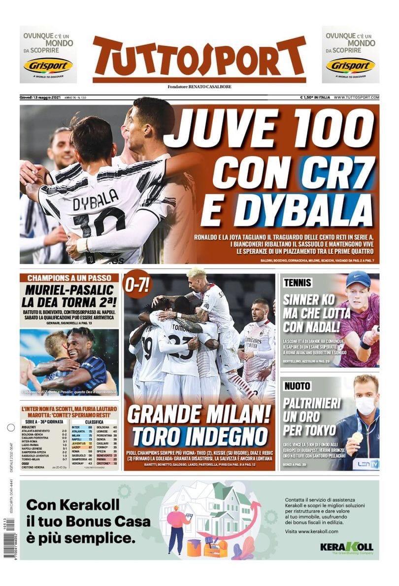 Одержимые! Заголовки Gazzetta, TuttoSport и Corriere за 13 мая