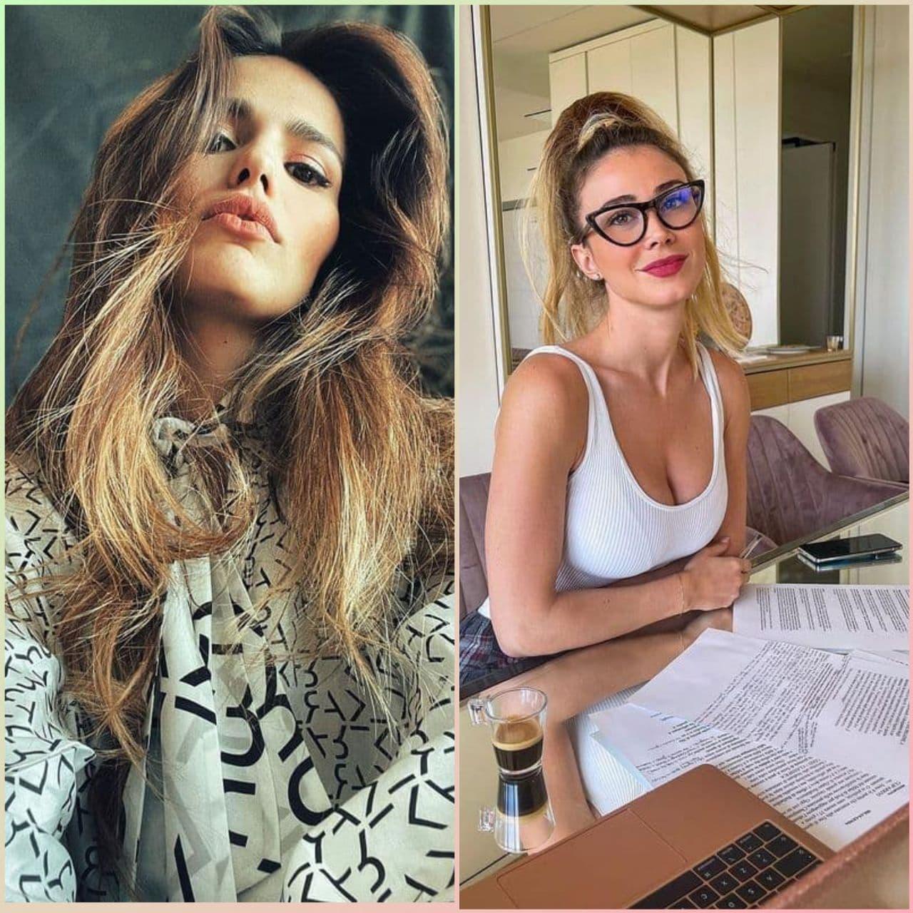 Кто симпатичнее?Жена Иско (слева) или журналист Дилетта Леотта?
