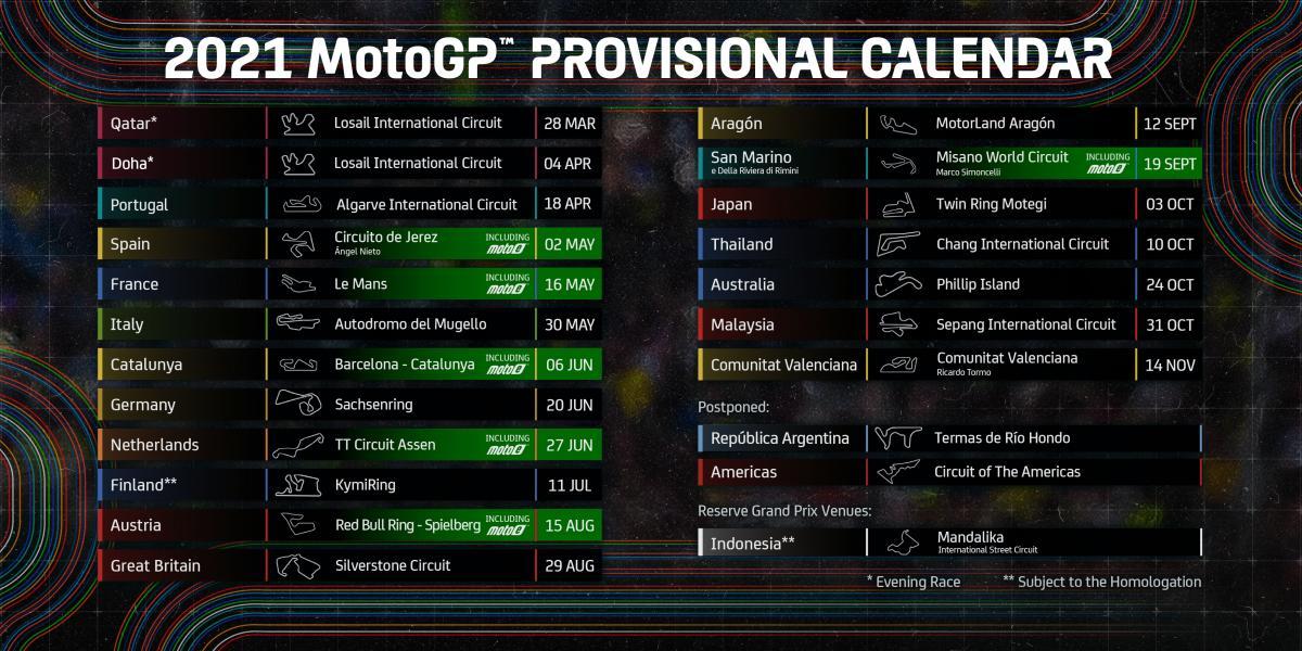 Гран-при Аргентины MotoGP, чемпионат мира MotoGP, Гран-при Америк MotoGP, Трасса Америк, Гран-при Катара MotoGP, Гран-при Португалии MotoGP, Международный автодром Алгарве