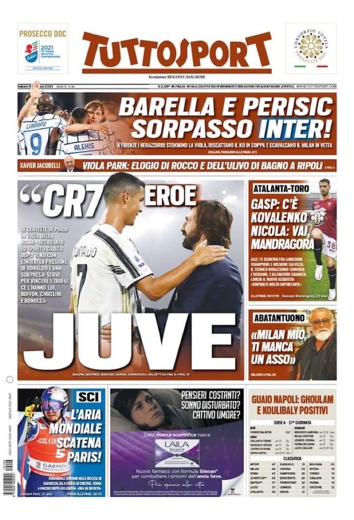 Конте, удовольствие быть там. Заголовки Gazzetta, TuttoSport и Corriere за 6 февраля
